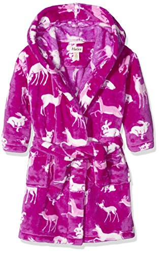 Hatley Girls' Little Boys' Fuzzy Fleece Robe, Deers and Bunnies, S by Hatley