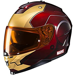 HJC Helmets Marvel IS-17 Unisex-Adult Full Face IRONMAN Street Motorcycle Helmet (Red/Yellow, Large) 51 2BWIiWvwvL