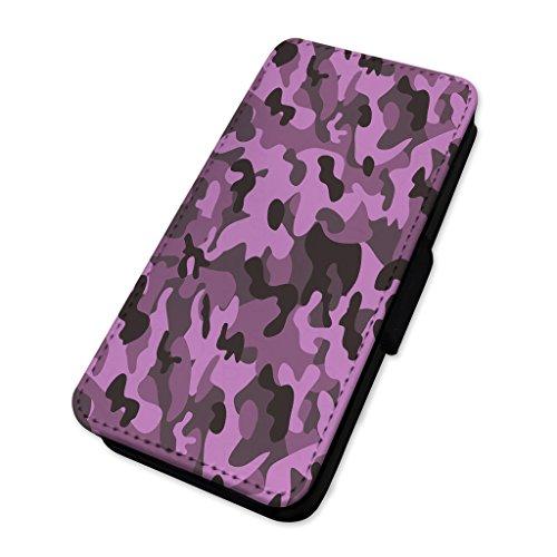 Army camo–camouflage–Custodia ad aletta in pelle cover Apple Iphone X