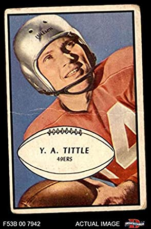 b99f966fa 1953 Bowman   56 Y.A. Tittle San Francisco 49ers (Football Card) Dean s  Cards 2