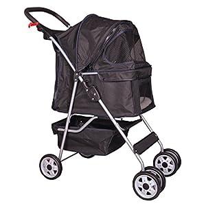 BestPet Pet Stroller Cat Dog Cage Stroller Travel Folding Carrier from Bestpet