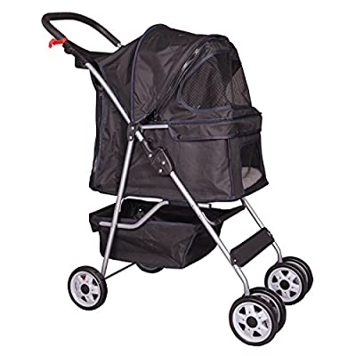 BestPet Pet Stroller Cat Dog Cage Stroller Travel Folding Carrier from BestPet