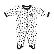 Two Feet Ahead NCAA Vanderbilt Commodores Infant Polka Dot Footed Creeper Dress, 6 months, Black