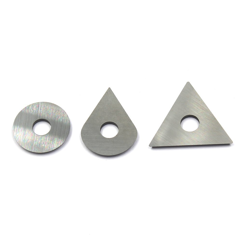 Tungsten Carbide Cutters Inserts Blades Knives Set Edged Scraper Replacement For Removing Paint Glue Varnish Rust Fits Most Popular Hand-hold Scrapers Include Round Drop Triangle Shape,Set of 3