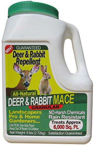 Nature's Mace 6 Lb Granular Deer & Rabbit Repellent, 6,000 Sq Ft - University Studies Prove Our Technology Works Best!
