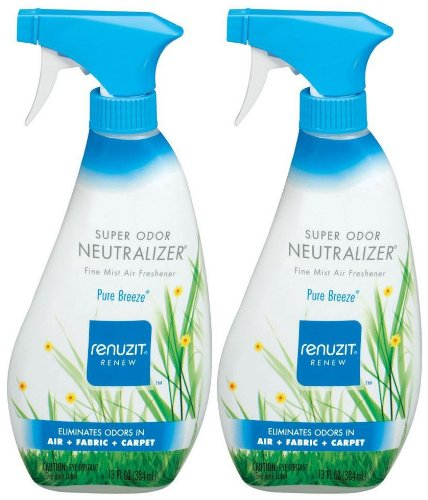 Renuzit Super Odor Neutralizer Air Freshener Spray, Pure Breeze, 13 oz-2 - Ounce Neutralizer 13 Odor