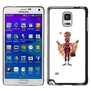 GOODTHINGS Funda Imagen Diseño Carcasa Tapa Trasera Negro Cover Skin Case para Samsung Galaxy Note 4 SM-N910F SM-N910K SM-N910C SM-N910W8 SM-N910U SM-N910 - Sijismo pintura del arte bigote hombre indio