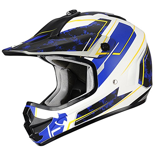 "Triangle Youth OffRoad Motorcycle Helmets ""Stain"" Sport ATV Motocross Dirt Bike [DOT]..."
