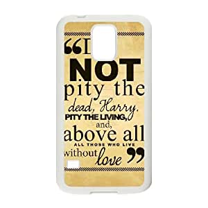 Samsung Galaxy S5 Phone Case White Harry Potter quotes AH1096189
