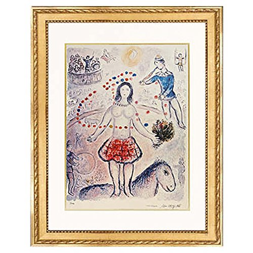 Marc Chagall 'Circus'. Lithograph on arches paper, from the original signed plate. Limited Edition. Framed size: 31
