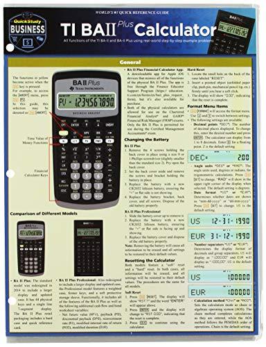 TI BA 2 Plus Calculator (Quick Study - Finance Ti