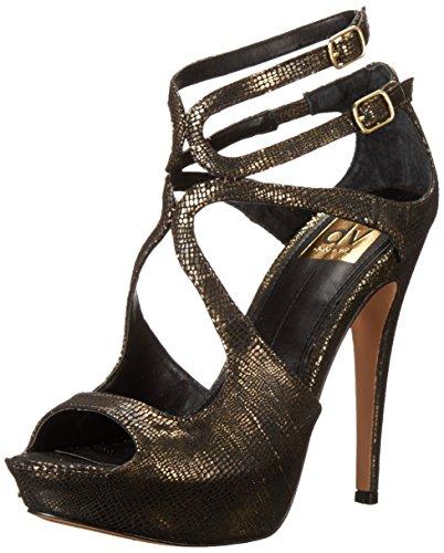 DV by Dolce Vita Womens Brielle Sandal Dark Gold