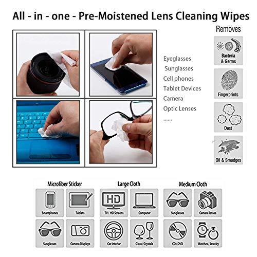 Toallitas de Limpieza de Pantallas de 110 Hilos, Limpieza de Superficies, Gran Pantalla LCD: Amazon.es: Electrónica
