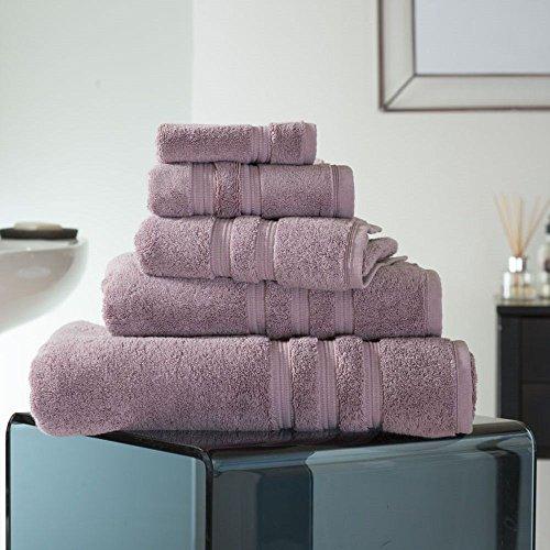 Opulence Tub Shower - Deyongs - Opulence 100% Cotton 800gsm Absorbent Bathroom Towel - Mauve Purple - Guest Towel
