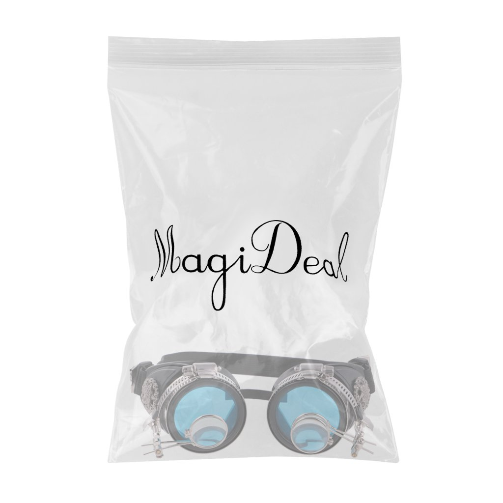 MagiDeal Retro Vintage Victorian Steampunk Goggles Glasses Welding Cyber Punk Gothic Cosplay Eye Protection Equipment for Cosplay Dance by MagiDeal (Image #3)