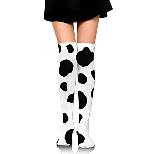 2b28f03b6f5 Image Unavailable. Image not available for. Color  Cow Dot Love Girls  Casual Socks Over The Knee High ...