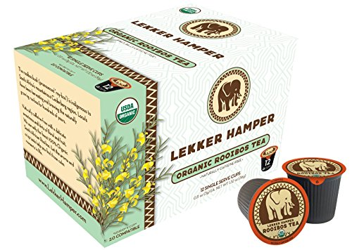 Tea Hamper - Lekker Hamper 100% Pure Organic Rooibos Tea K-Cups