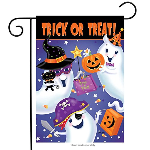(Briarwood Lane Trick or Treat Halloween Garden Flag Ghosts Candy 12.5