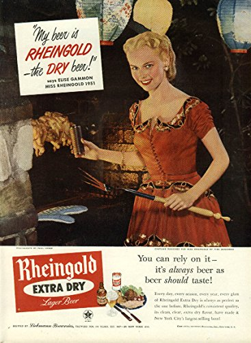 miss-rheingold-elise-gammon-for-rheingold-beer-ad-1951-chicken-barbecue-pit
