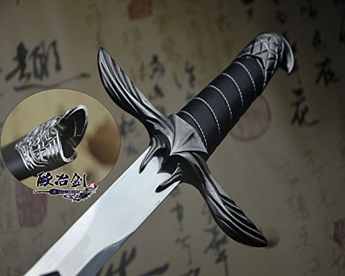 (S0094 UBISOFT GAME ANTIQUE SILVER ASSASSINS CREED EAGLE WING SWORD OF ALTAIR)