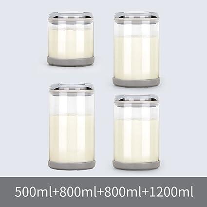 Vidrio Leche Hermético Hermético Botellas Tarro Grande] Latas de leche en polvo Té [jar