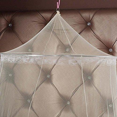Outdoor Beige Zarupeng und Insektenschutz Spitze Doppelbetten One Beige Bettnetze aus Baldachin Size Indoor Einzel Prinzessin Moskitonetze Mückennetz oder Kuppel für Reise xqZRw6In