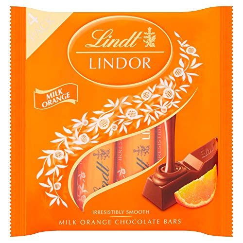 Original Lindt Lindor Milk Orange Chocolate Bars Imported