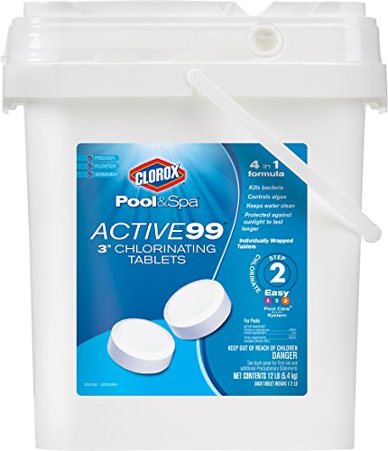 Clorox Pool&Spa Active 99 3-Inch Chlorinating Tablets, 12...