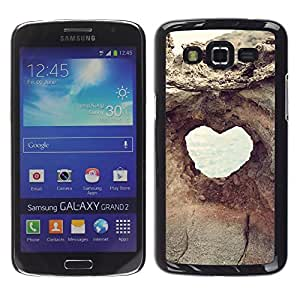 LECELL--Funda protectora / Cubierta / Piel For Samsung Galaxy Grand 2 SM-G7102 SM-G7105 -- Heart Structure Cliff Hole View --