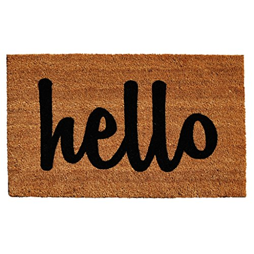 24 X 36 Natural - Calloway Mills 100342436NBS Script Hello Doormat, 24