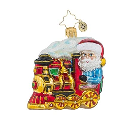 amazon com christopher radko north pole express little gem train