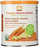 Happybaby Happymunchies Baked Organic Cheese and Veggie Snack, Cheddar Cheese with Carrot, 1.63 Ounces