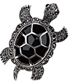 YACQ Jewelry Women's Crystal Big Turtle Pin Brooch Pendant