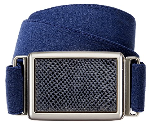 Hipsi Invisible, Slimming, Hidden, Stretch, Flat Jean Belt for Women Medium - Navy Dark Blue Denim