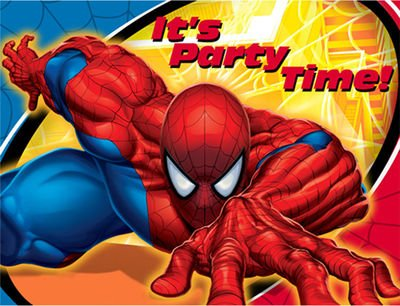 Spider-Man Spider Sense Invitations w/ Envelopes (Spider Sense Spider Man Costume)