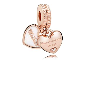 04776d393 Image Unavailable. Image not available for. Color: Pandora Mother & Daughter  Hearts Multicolored Dangle Charm 782072EN23