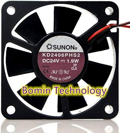 Bomin Technology for SUNON KD2406PHS2 24V 1.9W 6CM Double Ball Inverter Fan