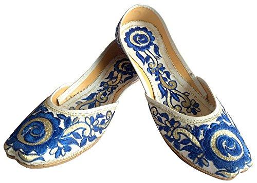Flat Step Phulkari Khussa Shoes Ballerina Ethnic Style Women Shoes Punjabi Jutti n PnWrWvt