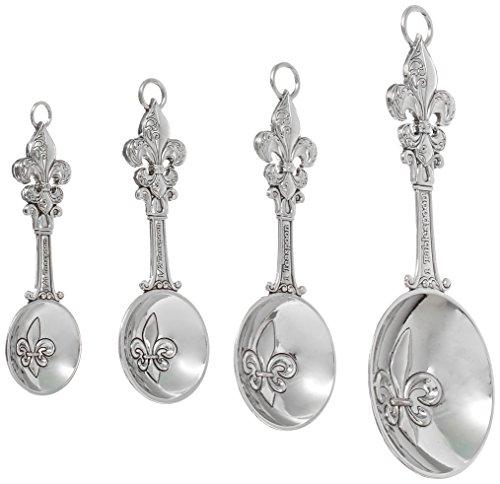 Ganz 4-Piece Measuring Spoons Set, Fleur De Lis