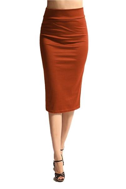 edbfa7cac Azules de la mujer por debajo de la rodilla Falda de tubo - hecho en ...