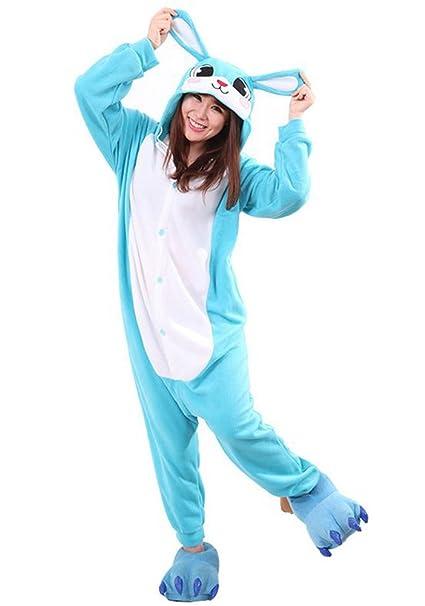Samgu Unisexo Adulto Conejo Animal Onesie Kigurumi Pijama Fiesta de Halloween Disfraz S