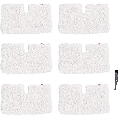 I clean Replacement Shark S3601 Steam Mops, 6Packs Pocket Microfiber Pads for Shark S3500 Series S3501 S3550 S3901 S3801 SE450 Lift Away Professional Vacuum Cleaners (Shark Professional Steam Pocket Mop Model S3601)