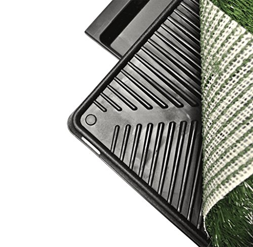 Downtown Pet Supply Dog Pee Potty Pad, Bathroom Tinkle Artificial Grass Turf, Portable Potty Trainer (20 x 25 inches with Drawer) by Downtown Pet Supply (Image #2)'