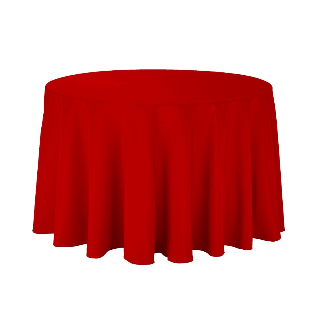 Craft and Party - 10 pcs Round Tablecloth for Home, Party, Wedding or Restaurant Use. (108'' Round Red) by Craft & Party