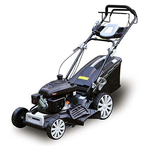 Garden Bean 161cc 20 Inch Deck 3-in-1 Self-Propelled Gas Lawn Mower OHV Engine with Recoil Start System and 10 inch High Wheels