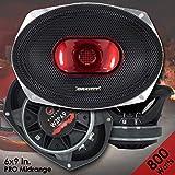 Gravity Warzone Series 6x9 inch Pro Midrange Coaxial Loud Speaker 4-Ohms with 800W Max, 1 Speaker WZP69