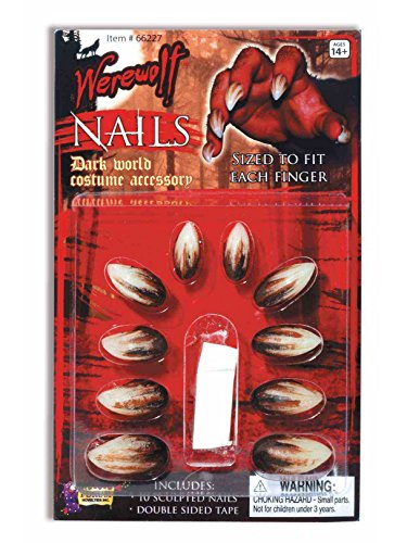 Forum Novelties 66227 Werewolf Nails Toy, Standard, Multicolor