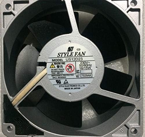 for Style Fan US12D23 12038 230V 16//15W Aluminum Machine Cooling Fan