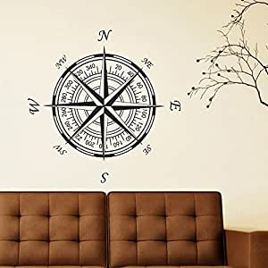 Amazon Com Battoo Compass Rose Vinyl Wall Or Ceiling