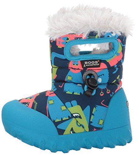 Bogs Baby Bmoc Monsters Snow Boot, Dark Blue/Multi, 5 M US Toddler